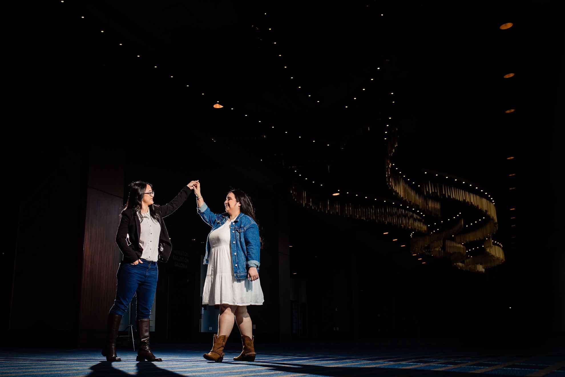 David Truong photography lesbian gay same-sex Huston USA city proposal bi-racial Dancing With Her (1)