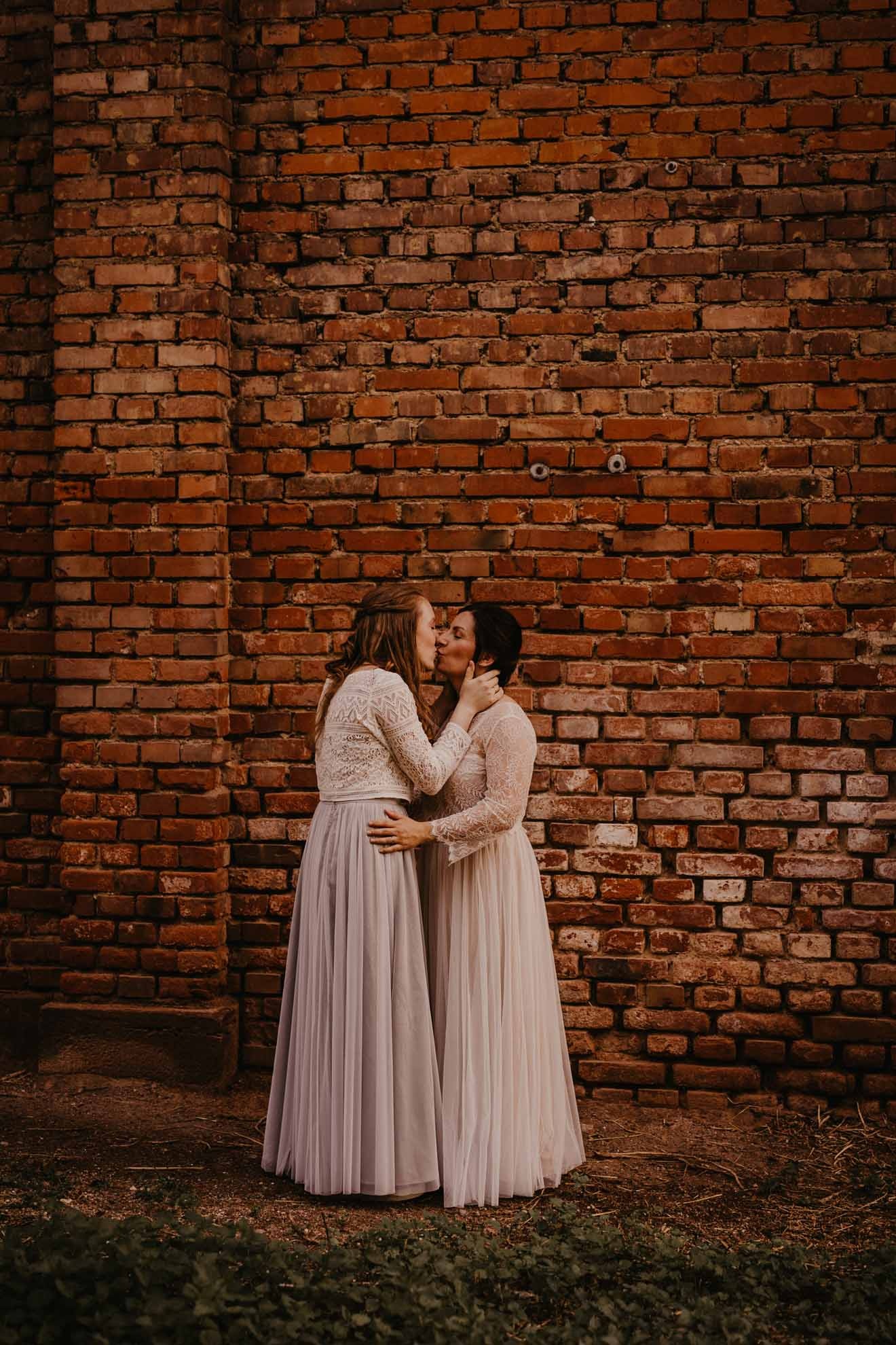 Sylviane Brauer photography lesbian gay same-sex two brides Germany Covid-19 elopement marriage Dancing With Her