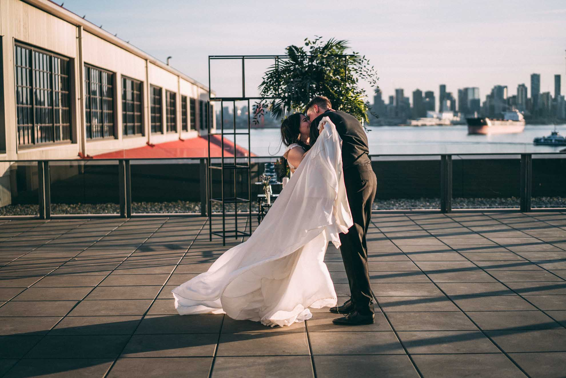 The Maclean's photography queer gay non-binary trans couple wedding elopment videography Vancouver Canada Dancing With Her magazine