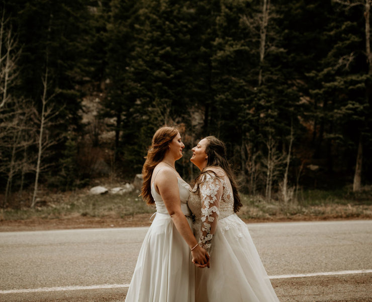 Crystal Cousin Photography Taos County Mexico lesbian two brides LGBTQIA+ wedding covid-19 elopement Dancing With Her magazine