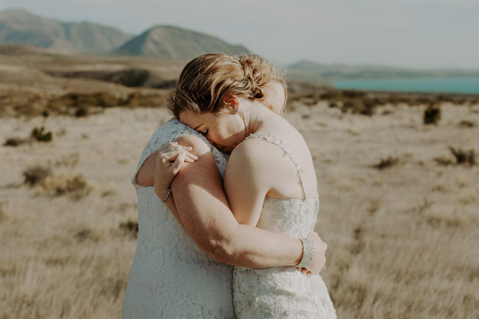 Frankly Faye lgbtqia+ photography lesbian wedding elopement Lake Tekapo New Zealand Dancing With Her magazine