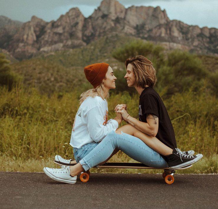 Julia Lea Photography lesbian gay bipolar LGBTQIA+ American Arizona Tucson love couple dancing with her magazine