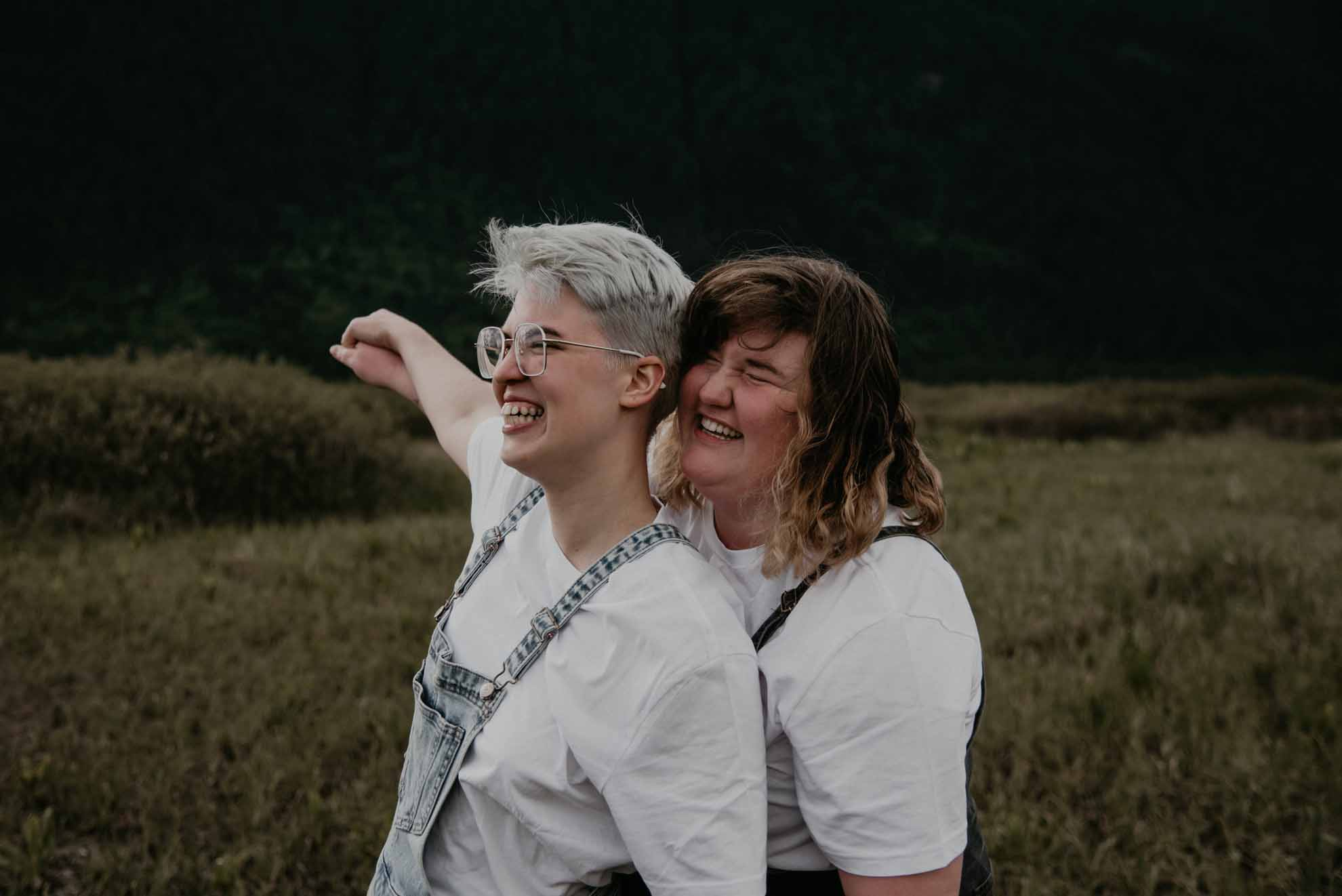 Photography by Taeya Fierro lesbian gay queer non-binary love Toronto Canada Dancing With Her magazine