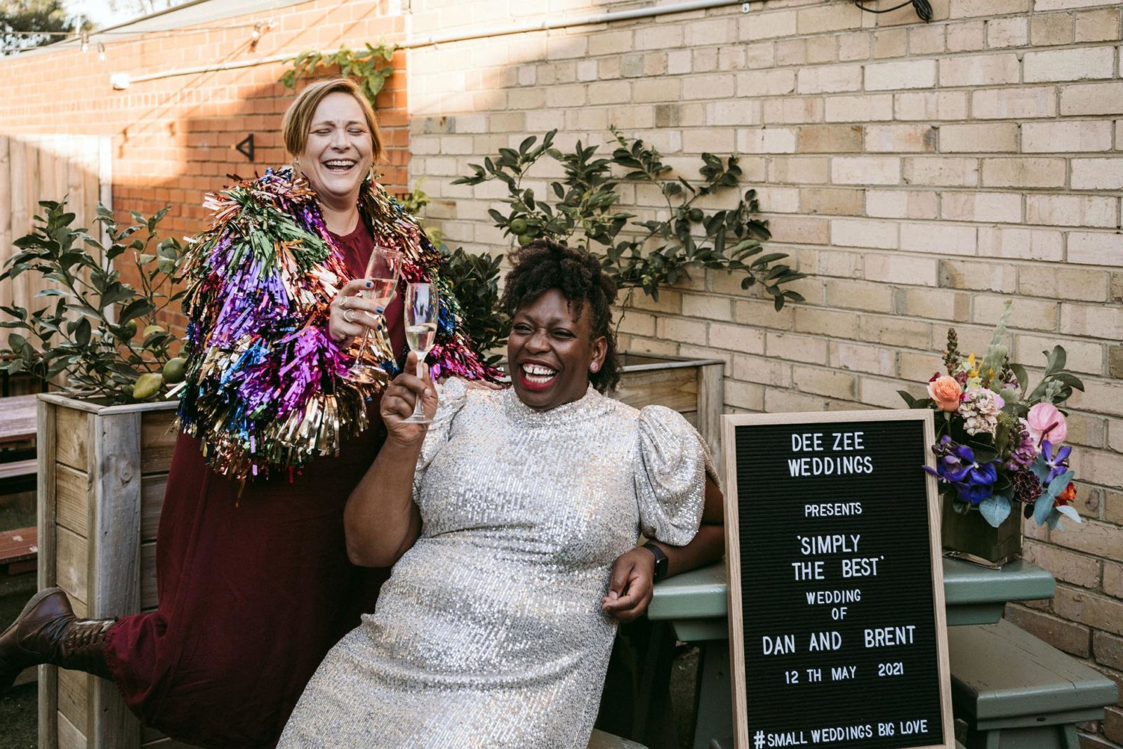 DeeZee Weddings lesbian gay same-sex two grooms two brides wedding elopement celebrant melbourne victoria dancing with her 5