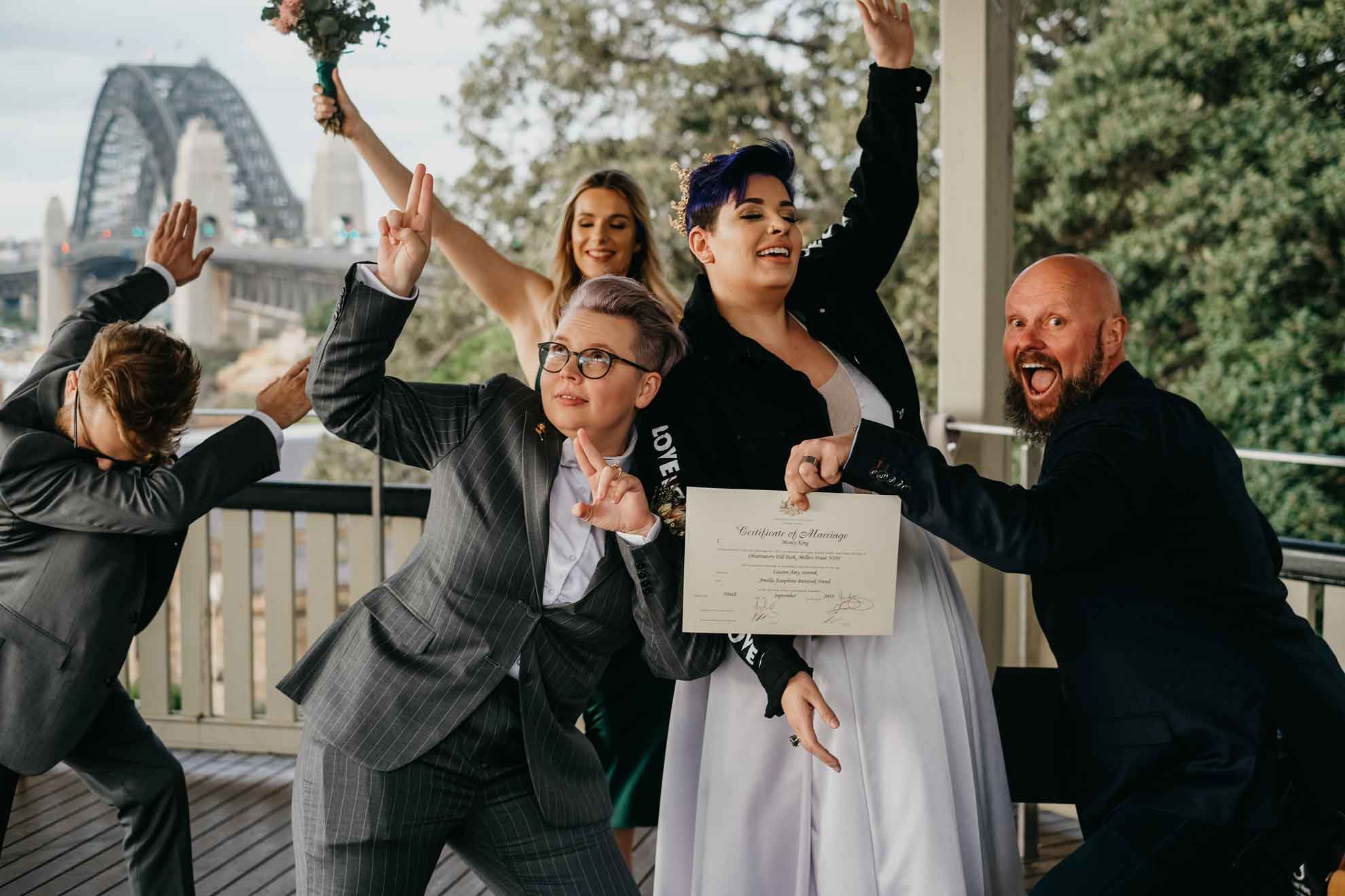 Monty King - Celebrant newcastle new south wales australia lesbian gay queer wedding elopement dancing with her magazine vendor